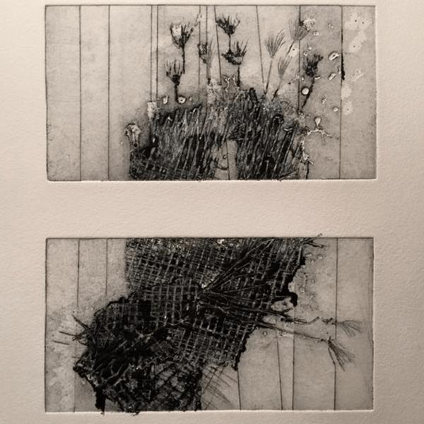 Untitled, 8 x 15 cm (2 x), drypoint