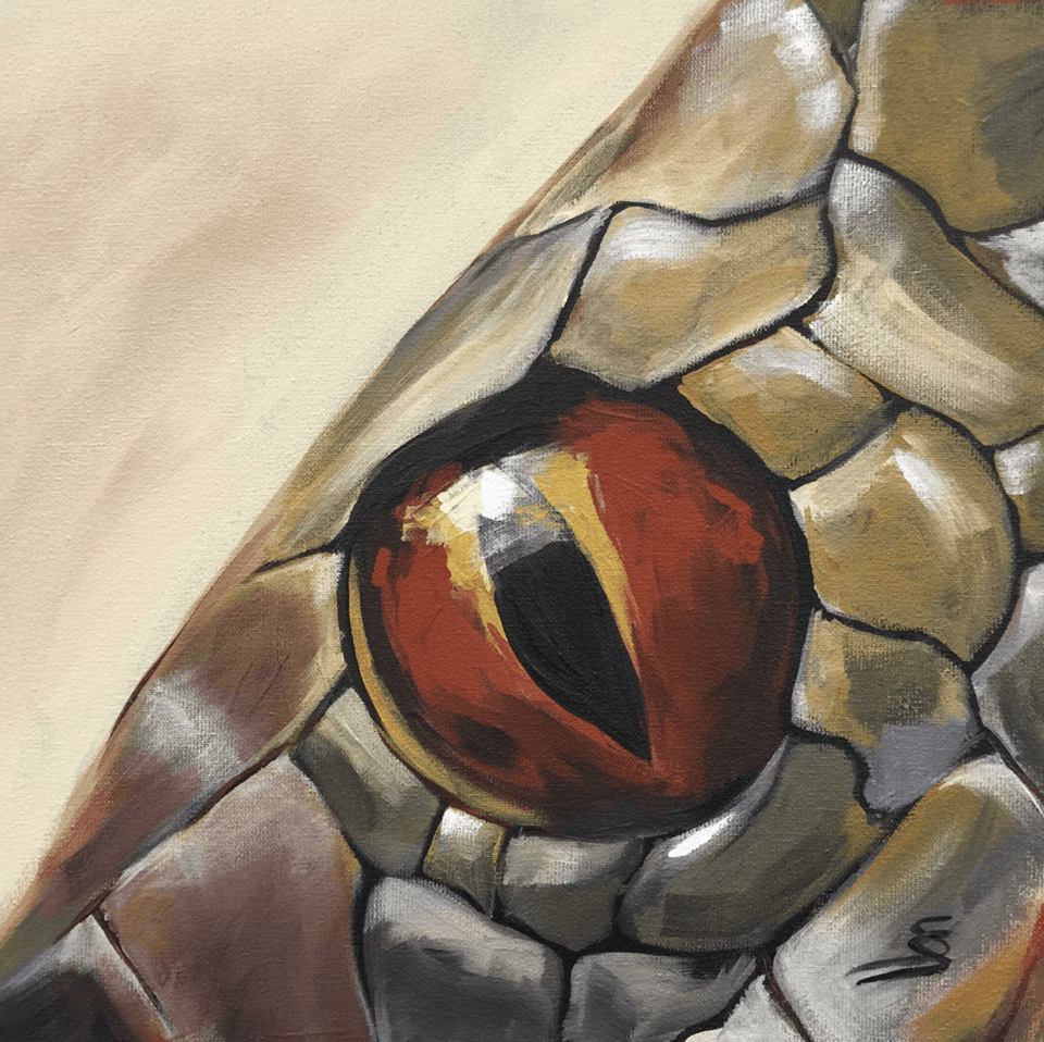 "<p class=""p1""><span class=""s1""><strong>Moments ""Snake""</strong>, 20 x 20 cm, acryl on canvas</span></p>"