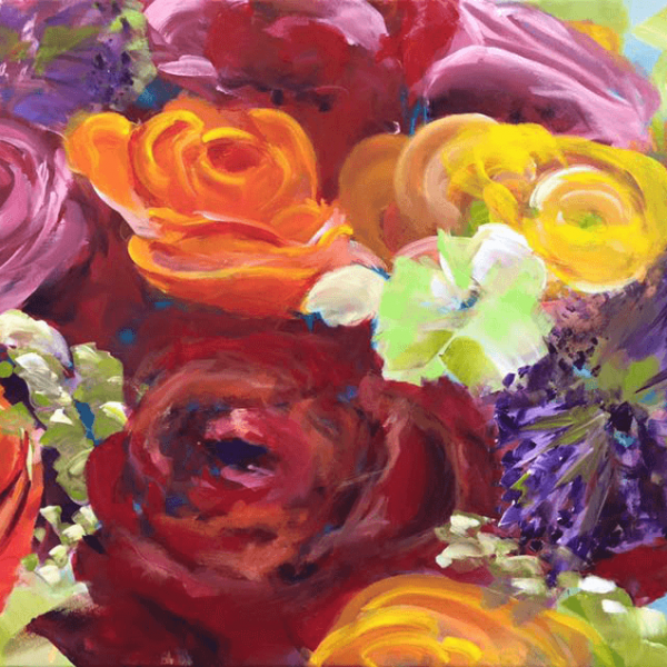 the bouquet, 60 x 90 cm, acryl on canvas
