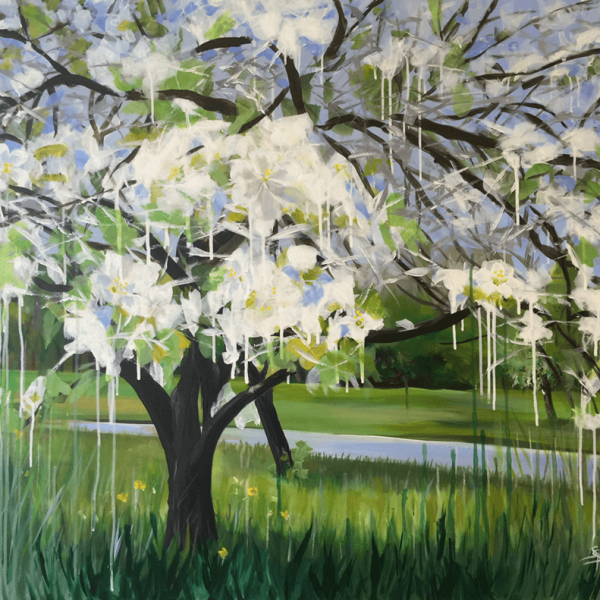 Spring, 100 x 120 cm, acryl on canvas