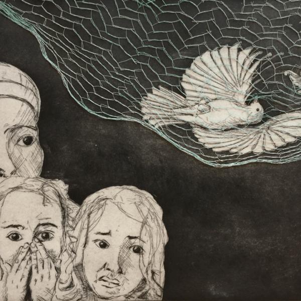 de Goya Project – Image 3, 29,5 x 39,5 cm, line etching / aquatint with glued net