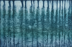 Titel: Baumspiegelung2, Größe: 19,5/29,5, Technik: Strichätzung und Aquatinta