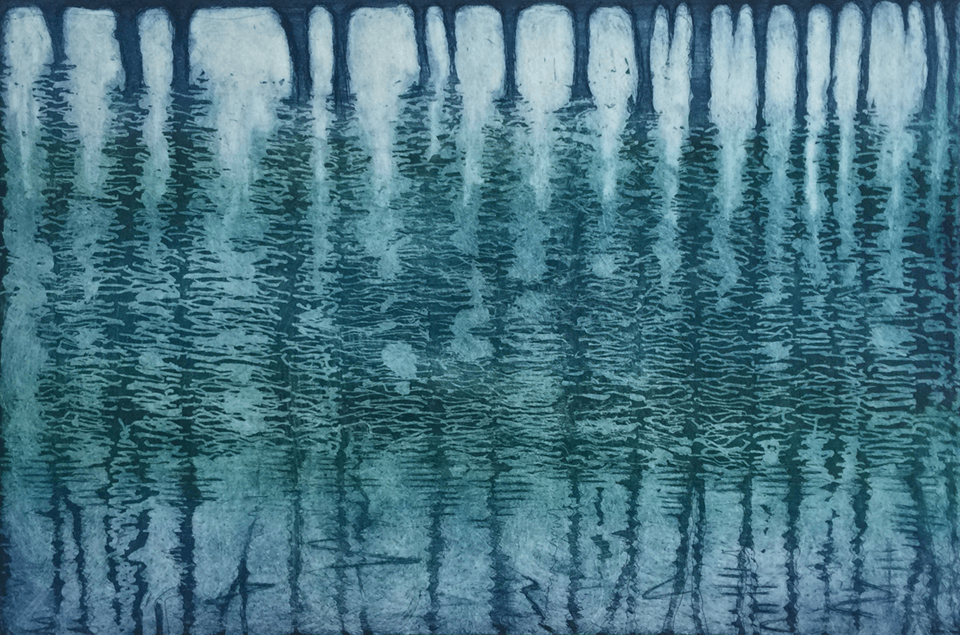 "<p class=""p1""><span class=""s1""><strong>Tree reflection 2</strong>, 19,5 x 29,5 cm, line etching and aquatint</span></p>"
