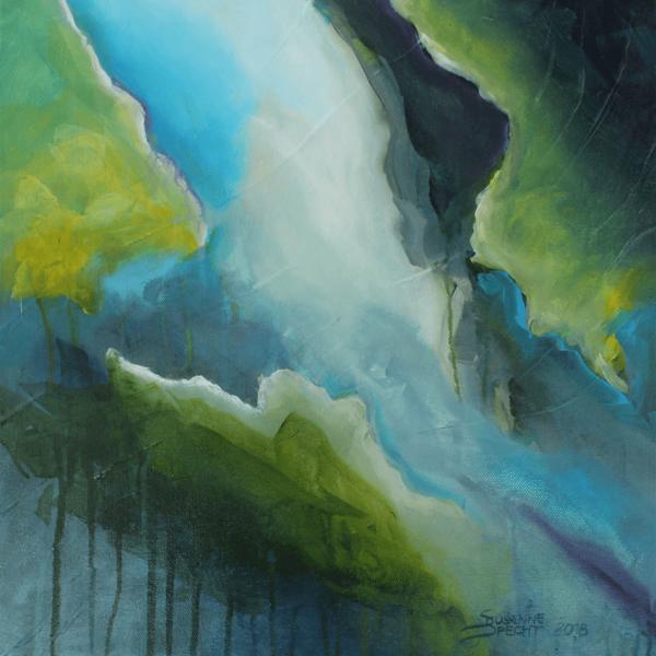 Behind it, 40 x 40 cm, acryl on canvas