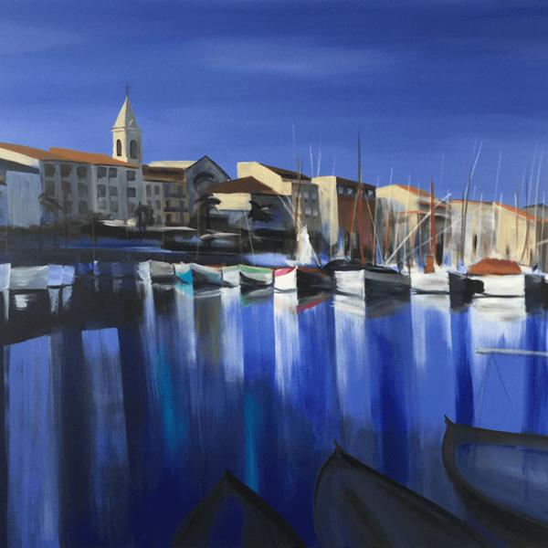 Sanary sur Mer 2, Provence, 120 x 160 cm, acryl on canvas
