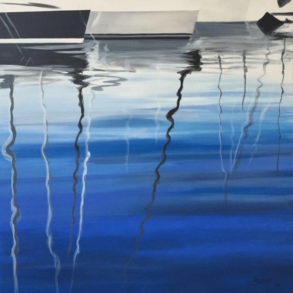 Reflections 1, 100 x 100 cm, acryl on canvas