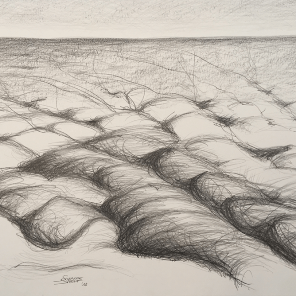 Clouds waves, 59,5 x 84,5 cm, drawing / graphite