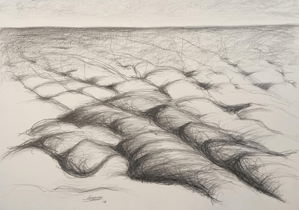"<p class=""p1""><span class=""s1""><strong>Clouds waves</strong>, 59,5 x 84,5 cm, drawing / graphite</span></p>"