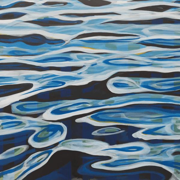 Waves on the Ocean, 80 x 100 cm, acryl on canvas