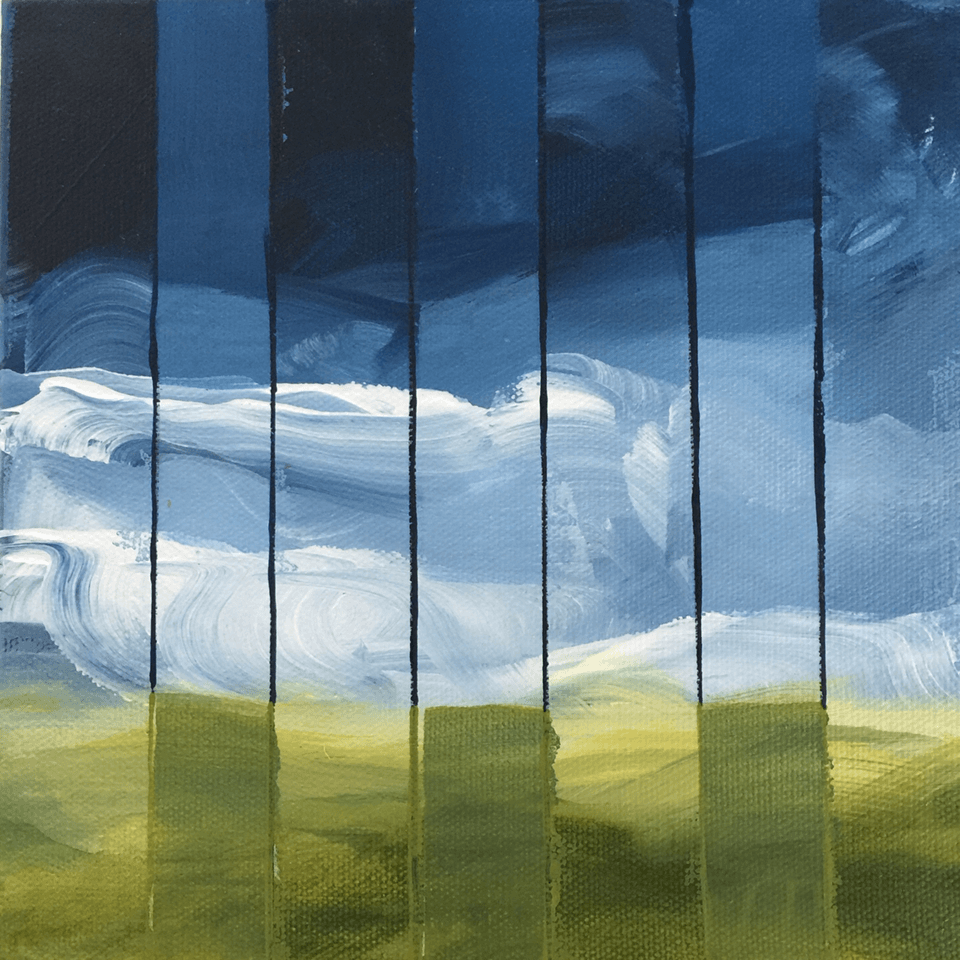 "<p class=""p1""><span class=""s1""><strong>Clouds behind Bars</strong>, 20 x 20 x 7 cm, acryl on canvas box</span></p>"