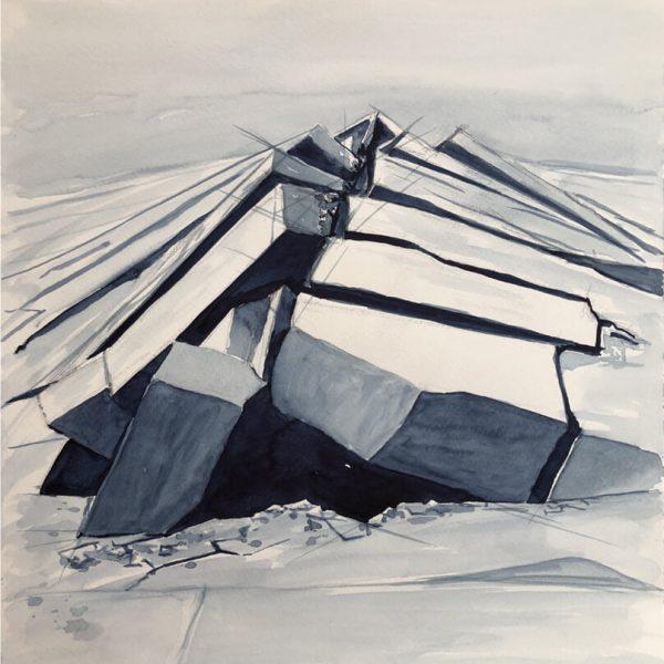 Aufbruch, 48 x 36 cm, Aquarell